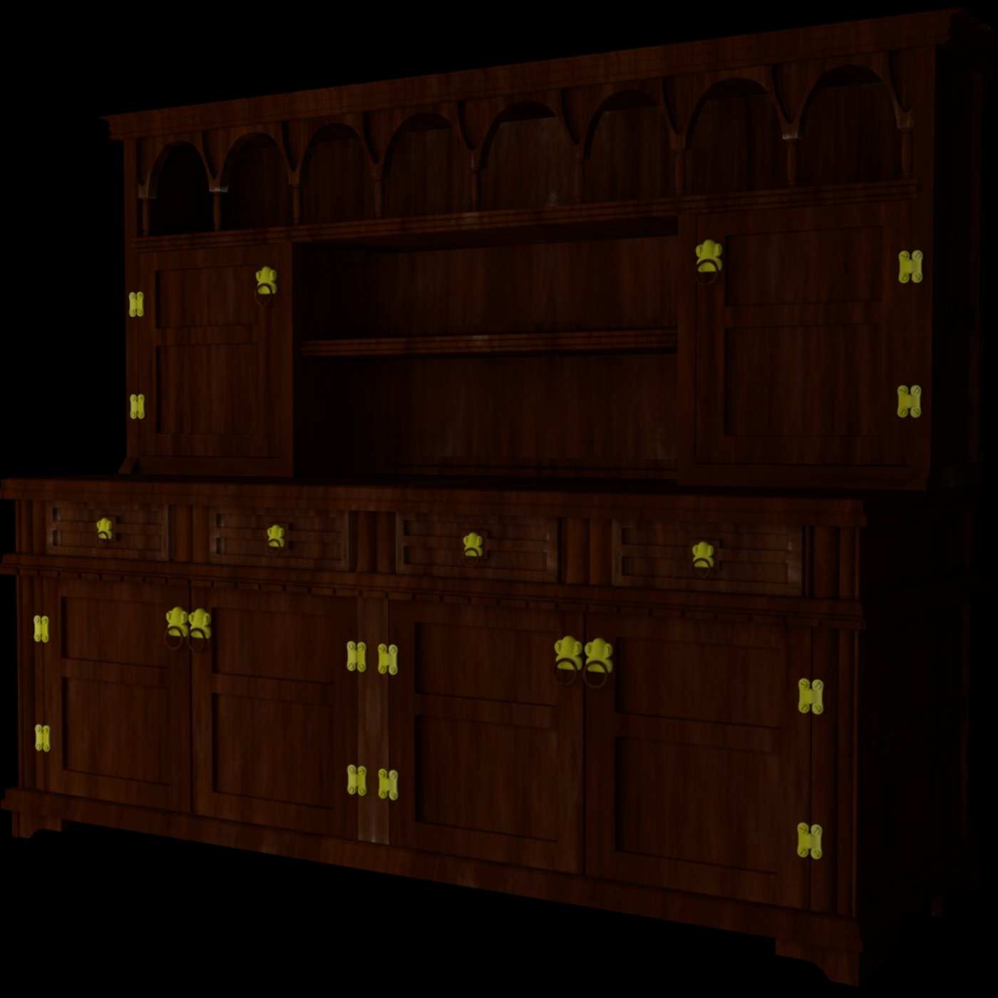 Display Cabinet with UV map and 3 textures