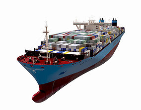 3D model Maersk Triple E 1st generation Containers