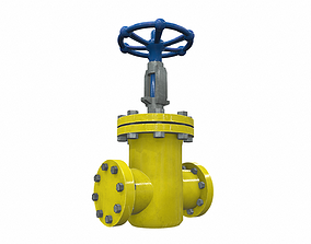 Industrial pipeline valve 2 3D