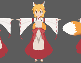 Senko-san 3d anime model and maid ver game-ready