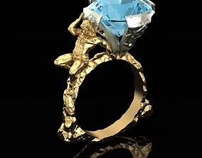 Ring Shoulder-mounted Gemstone 3D printable model