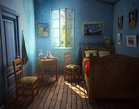 van Gogh bedroom 3D asset