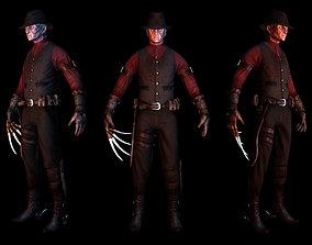 3D asset Western Style Freddy Krueger Game Mesh