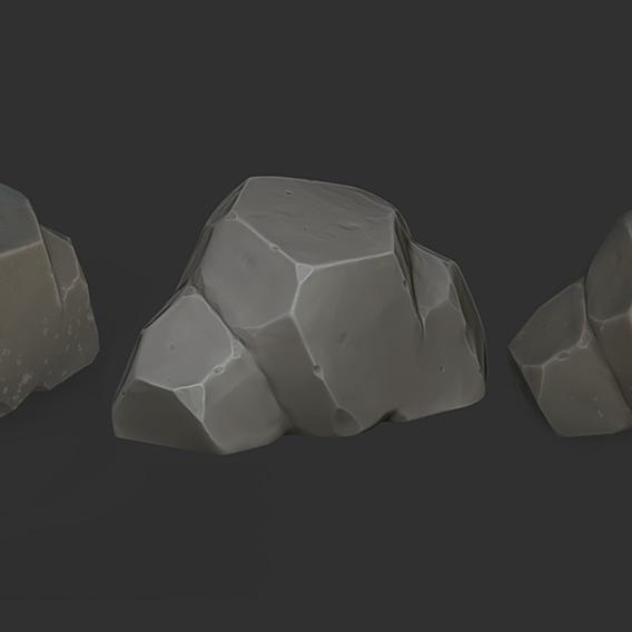 Stylized game Rock
