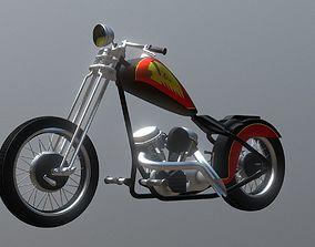 3D model Custom Chopper Motorcycle Bobber