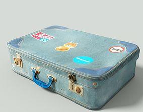 Vintage Suitcase Retro Valise 3D asset