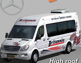 3D asset Mercedes Sprinter 2015 Britannia minibus