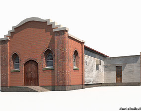 Church Old Building Low Poly 168 3D asset