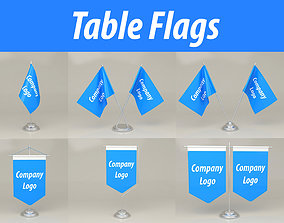Table Flags 3D