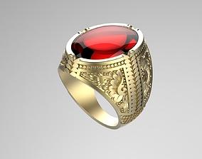 Gentleman Ring with engraving side design 3D print model