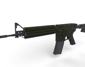 3D model M4A1 Camouflage Green