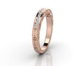 3D printable model Channel set ring engravings