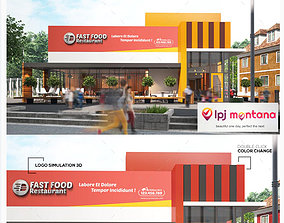 Restaurant Fast Food Outlet 3D