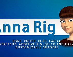 3D rigged Anna Rig