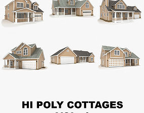 3D Hi-poly cottages collection vol 4