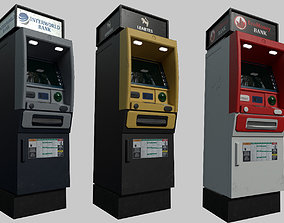 3D asset ATM Bankomat Gameready Model