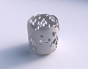 Bowl cylindrical with bubbles holes 3D print model