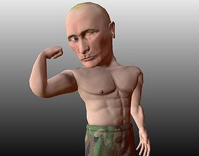 3D model Vladimir Putin caricature low poly
