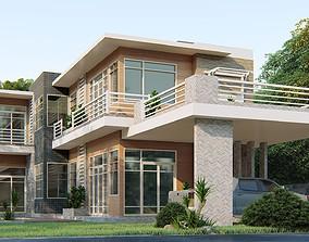 3D Villa C5 Sketchup dwg lumion render picture