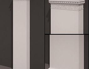 Pilaster Antique type 10 3D