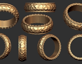HAMMERED TEXTURED RING 3D printable model