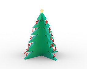 3D printable model Alphabetical Christmas Tree with Two 1
