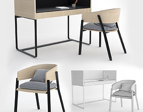 3D MODERN DESK AND CHAIR