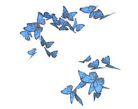 3D model Group Butterfly v1 001