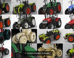 3D model 11 Tractors collection