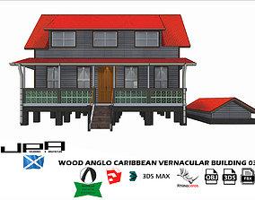 3D model Wood Anglo Caribbean Vernacular Building 03