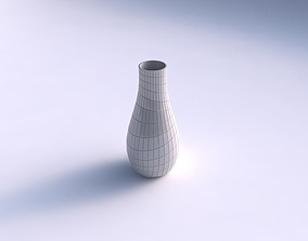 Vase curved with distorted grid plates 3D print model