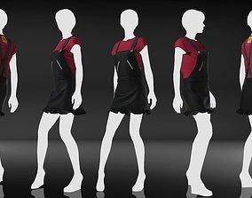 Marvelous Designer Garment - Casual Star 3D model