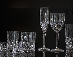 3D GLASS STEMWARE AND TUMBLERS
