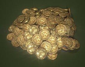 3D model Old Golden Coin Pile PBR