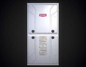 3D model rigged Carrier and Bryant Gas Furnace