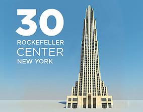 3D model Rockefeller Center Comcast GE Building