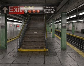 3D model NYC Subway Station