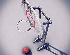 Basketball Post 3D asset