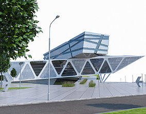 Modern Museum Building 02 3D model