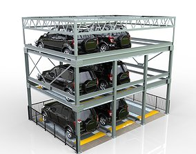 Automated Puzzle and Multilevel Parking System 3D