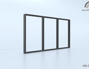 3D Aluprof MB-SG50 Fasada strukturalna 001 M-0324