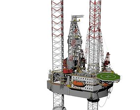 Jack up rig 3D model