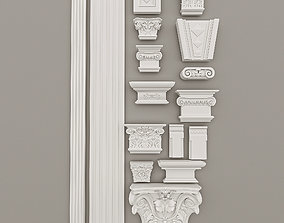 Pilasters Decorative Gaudi 16 pieces Set 3D