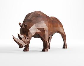 3D model Rhinoceros low poly art