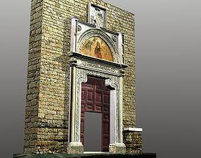 3D asset Medieval Romanic Style Portal no 2