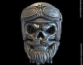 biker helmet skull vol2 pendant jewelry 3D print model