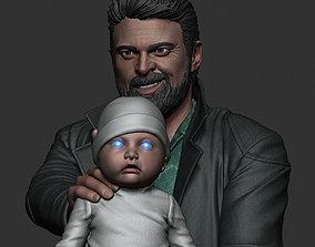 Karl Urban - Butcher and baby 3D printable model
