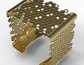 3D printable model Square Bracelet Hive elegant