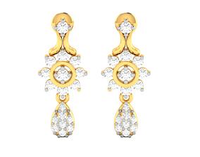 Women earrings 3dm render detail jewelry hoophuggie