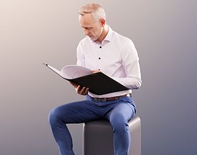 3D 11384 Jason - Sitting Business Man Reading his File
